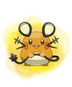 Dedenne - The round shape of Dedenne makes this Fairy-type Pokémon instantly recognizable. Dedenne has the Cheek Pouch Ability, new to Pokémon X and Pokémon Y. If a Pokémon with this Ability eats a Berry during battle, it will not only reap the usual benefits of that Berry, but will also be able to regain HP.