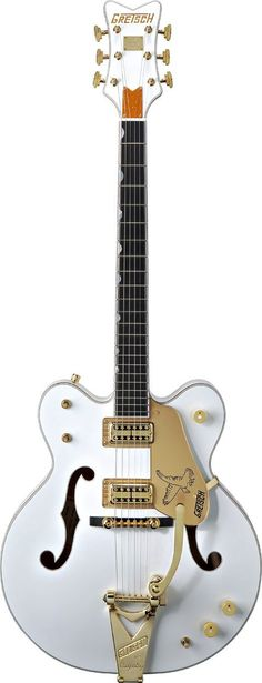 A Gretsch White Falcon...the signature guitar of Billy Duffy of the band The Cult. Yeah, I'll have one of those.