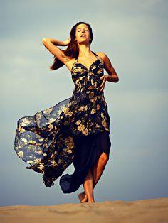 Floral dress, missing my summer