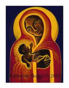 Katherine Skaggs Black Madonna and Child (image) Madonna Art, Madonna And Child, Christian Images, Christian Art, Mother Mary, Mother And Child, Black Jesus, Mama Mary, Winter Magic