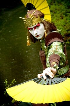 Kyoshi Warrior Suki - Very helpful walkthrough on a great cosplay