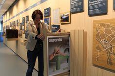 Timeline, heritage, Auping, Deventer. Brand experience - by DST  Deze tentoonstelling vertelt de geschiedenis van Auping en laat zien hoe dit bedrijf omgaat met duurzaamheid.