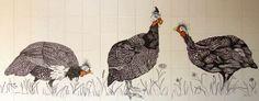 guinea fowl art - Pesquisa Google