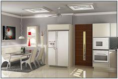 Vineetha View of Kitchen by Mathewandsaira architects Cochin.