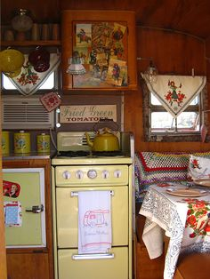 vintage trailer. I mean, I already live in a trailer. I feel like I should have a little one that can come with me!