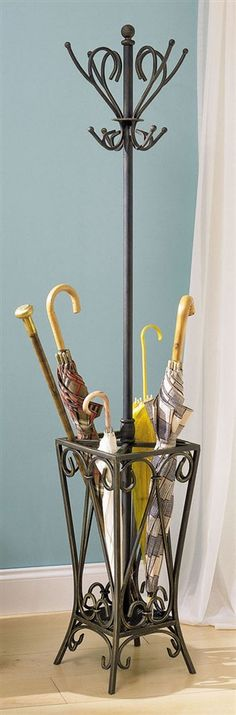 Antique coat/hat rack and umbrella stand