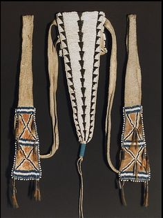 Cheyenne belt bag, collected in 1848.  AMNH