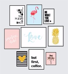 Super Ideas for diy decoracion hogar cuadros Frame Wall Decor, Home Decor Wall Art, Frames On Wall, Framed Wall Art, Teen Room Decor, Room Decor Bedroom, Diy Room Decor, Cuadros Diy, Diy Tumblr