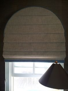 Arch Flat Roman Shade Arched Window Roman Shade Contemporary Living Room Los Angeles P D Window Fashions