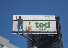 Ted movie billboards