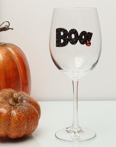 Boo Wine Glass - Exquisite Hand Crafted Jeweled Glassware MADE IN THE USA