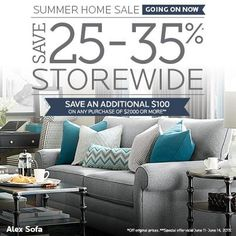Save 25-35% storewide at Bassett Furniture! Plus, save an additional $100 this weekend only! #KentsDeals