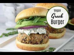 Vegan Chickpea & Quinoa Greek Burger - Eat. Drink. Shrink.