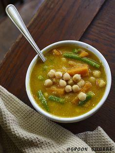 Indyjska zupa warzywna z ciecierzycą; Indian chickpea & vegetable soup