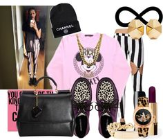 """""""Rich Bixtch."""" by deathbydesigner ❤ liked on Polyvore"""