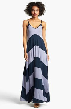 French Connection Chevron Stripe Maxi Dress | Nordstrom