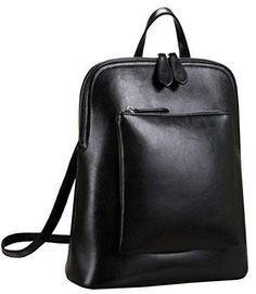 Heshe Women's Vintage Backpack Casual Daypack Double Shoulder Bags for Ladies and Girls (Black)