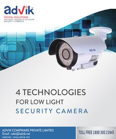 4 Technologies for low light #securitycamera !!! Security Camera often need to capture vital information during moments with way too little amount of light. In such scenarios, #technologies for low light come into play and are making great headway today. To know more about these technologies, read here......http://bit.ly/2dj9GEL
