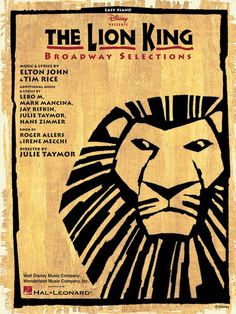 The Lion King Broadway Easy Piano Sheet Music Song Book | eBay