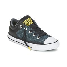 Converse Chuck Taylor All Star High Street Pavement Ripstop Slip Sort / Blå / Gul