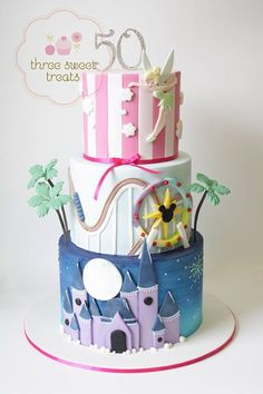 Sweet 16 Disney Theme Cake Disney Things Pinterest Disney
