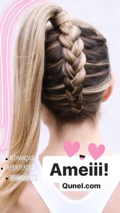 + Popular braided hairstyles for long hair ★ More information: love . + Popular braided hairstyles for long hair ★ Further information: love . + Popular braided hairstyles for long hair ★ Further information: lovehairs. Cute Braided Hairstyles, Box Braids Hairstyles, Braided Ponytail, Hairstyles Videos, Cute Hairstyles For Teens, Trendy Hairstyles, Black Hairstyles, Bun Updo, Messy Updo