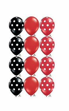 "Red Black White Dot Ladybug Birthday Party 11"" Balloon (12) Latex Mickey Minnie Qualatex,http://www.amazon.com/dp/B00B7943KG/ref=cm_sw_r_pi_dp_zmWrtb1FT8JEBVHS"