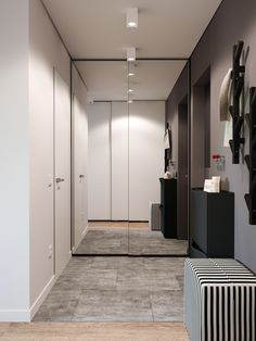 Small aprtmnt on Behance Home Interior, Interior Architecture, Interior Design, Built In Cupboards, Shoe Cabinet, Entrance Hall, Corridor, Mudroom, Wardrobes