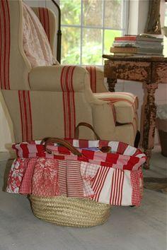 Prairie baskets vintage linens