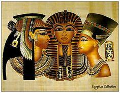 nefertiti postcard   Egyptian Collection Postcard Cleopatra King Tut Nefertiti New Unused ...