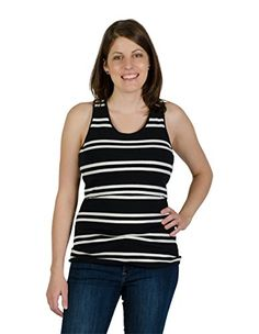 daffbbdba91d1 Momzelle Womens Breastfeeding Striped Betty Nursing Tank Top Xtra Large --  Check this awesome product