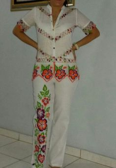 Colorful pant /blouse set