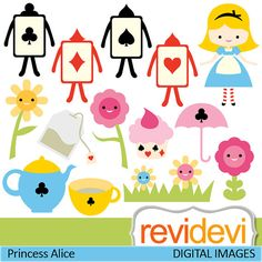 Digital clipart.. Princess Alice 07401.. Commercial by revidevi