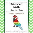 A fun math pack to add to your rainforest unit.  It has many common core based activities and includes the following activities:    -Time for Dinner?...