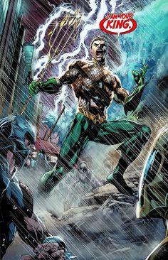 Arte Dc Comics, Aquaman Dc Comics, Dc Comics Superheroes, Dc Comics Characters, Marvel Comics, Marvel Vs, Comic Book Covers, Comic Books Art, Comic Art