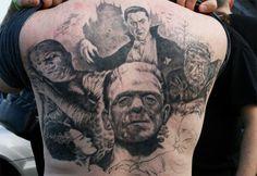 horror tattoos Tattoo Ideas Classic Movie Horror Tattoo Back Tattoo ...