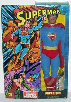 1977 Superman (Superman - World's Greatest Super-Heroes) 12 & 12 action figure by Mego