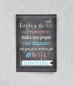 Poster para Personalizar com a sua senha do wifi