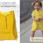 Sew: Baby dress from women's shirt