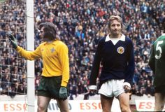 Pat Jennings and Denis Law