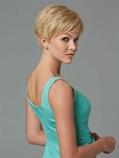 Perfect Blonde Straight Cropped Synthetic Wigs, Synthetic Full Lace Wigs With Baby Hair