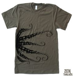 Hey, I found this really awesome Etsy listing at http://www.etsy.com/listing/60867009/mens-octopus-t-shirt-american-apparel-s