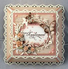 Lena Katrine`s Scrappeskreppe: DT Wild Orchid Crafts - Challenge Punch It Out Butterfly Cards, Flower Cards, Card Making Inspiration, Making Ideas, Kirigami, Card Making Designs, Handmade Card Making, Shabby Chic Cards, Wild Orchid