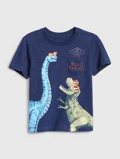 Neon T-Rex Dinosaur T-shirt Cool Movie Drawing Summer Kids Children