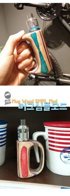 Chansthinks Wood Crafts! 찬이생각: Mug-Shaped SMPL Mechanical Mod /Vape Analog Mod 18...