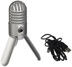 Amazon.com: Samson Meteor Mic USB Studio Microphone (Chrome): Musical Instruments