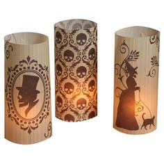 """Check out this item at One Kings Lane! Asst. of 6 11"""" Silhouette Luminaries"""