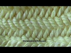 Herringbone Stitch in the Round - YouTube