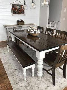 Below are the Farmhouse Dining Room Decor Ideas. This post about Farmhouse Dining Room Decor Ideas was posted under the Dining Room category by our team at May 2019 at pm. Hope you enjoy it and don't forget . Kitchen Table Bench, Farmhouse Dining Room Table, Dining Room Table Decor, Dining Room Design, Dining Room Furniture, Dining Chairs, Farmhouse Bench, Farmhouse Decor, Room Decor