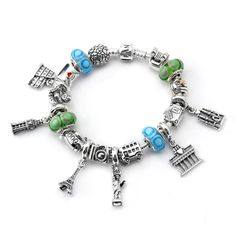 PANDORA bracelet travel charms, need to get every country I have traveled too :)